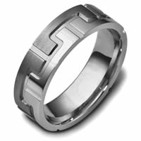 Item # C117871TI - Contemporary Carved Wedding Band