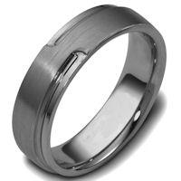Item # C120521TI - Titanium Carved Wedding Ring