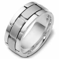 Item # C122041W - 14K White Gold Wedding Band.