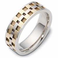 Item # C122291PE - Platinum and 18 Kt Yellow Gold Wedding Band