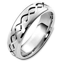 Item # C123911PD - Classic Palladium Carved Wedding Band