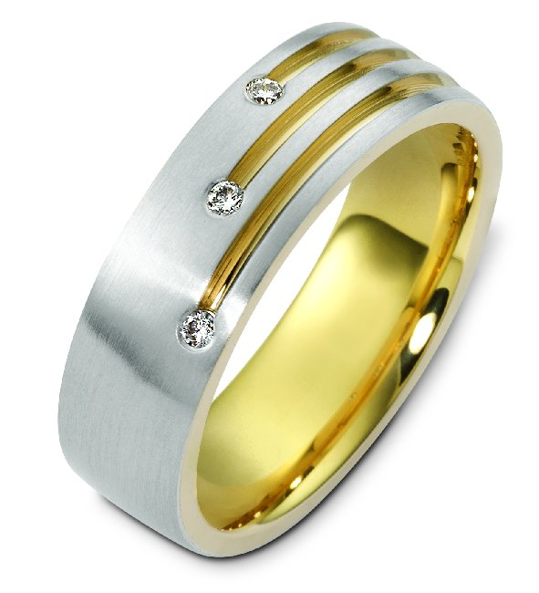 18K Two-Tone Diamond Ring.
