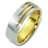Item # C124431E - 18K Two-Tone Diamond Ring.