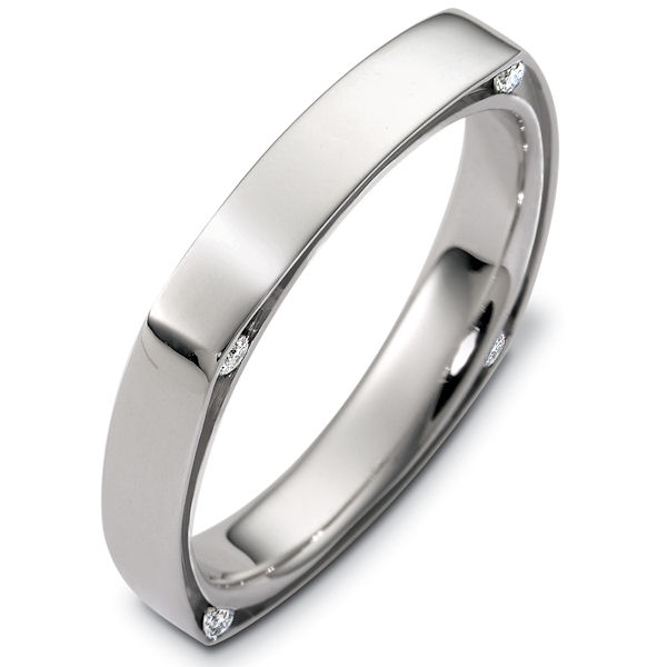 Item # C124501PD - Palladium Diamond Wedding Ring View-1