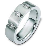 Palladium Men's  Diamond Wedding Band