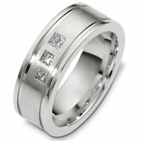 Item # C125331PD - Palladium Modern Diamond Wedding Band