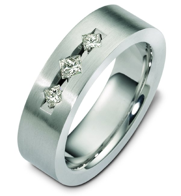 C125351PD Palladium Diamond Wedding Band