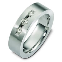 Item # C125351W - Three Diamond Wedding Band.