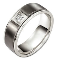 Item # C127521TG - Titanium Diamond Wedding Band
