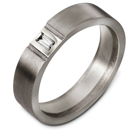 Item # C127541TE - Titanium Diamond Wedding Band View-1