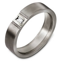 Titanium Diamond Wedding Band