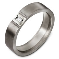 Item # C127541TG - Titanium Diamond Wedding Band