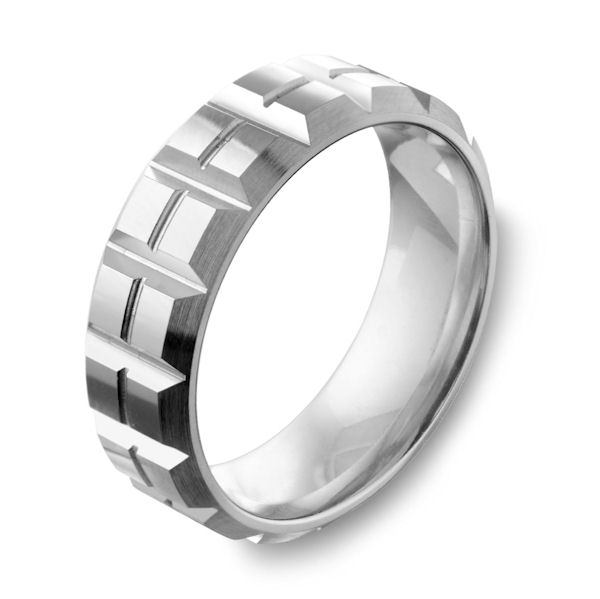Cobalt Chrome Contemporary Wedding Ring