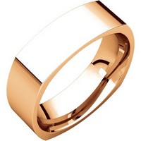 Item # C131621R - 14K Rose Gold 6mm Wide Square Wedding Ring