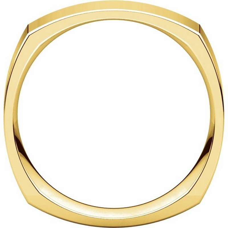 Item # C131621E - 18K Yellow Gold 6.0 mm Square Wedding Band View-2