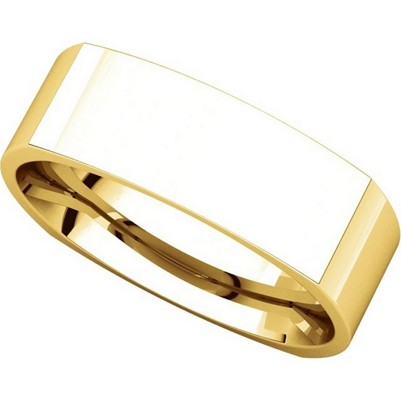 Item # C131621E - 18K Yellow Gold 6.0 mm Square Wedding Band View-4