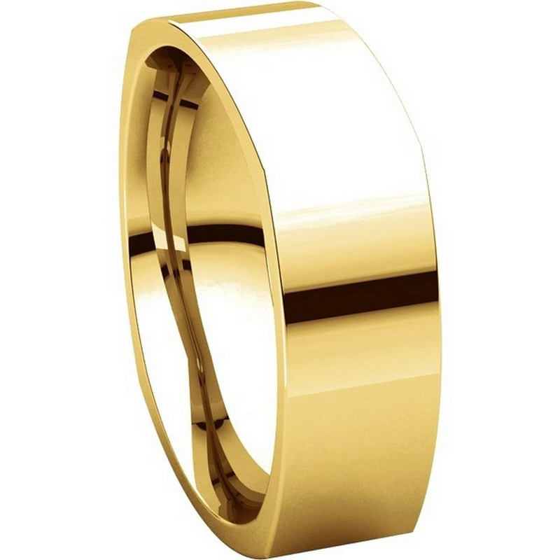Item # C131621E - 18K Yellow Gold 6.0 mm Square Wedding Band View-5