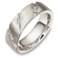 Diamond 14 K Wedding Band