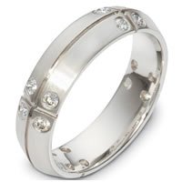 Item # C136411W - Diamond 14 K Wedding Band