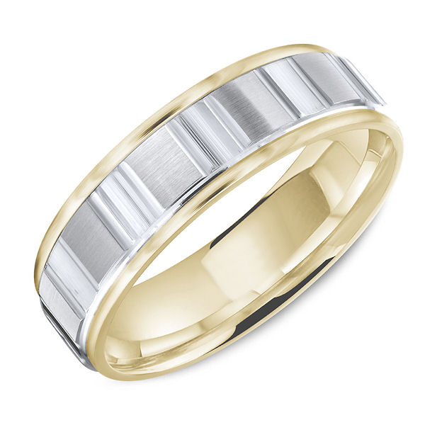 Item # C13753 - Two-Tone Classic Wedding Ring View-1