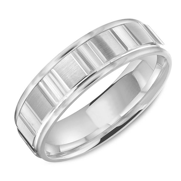Item # C13753WE - White Gold Classic Wedding Ring View-1