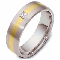 18K Gold and Platinum Diamond Band.
