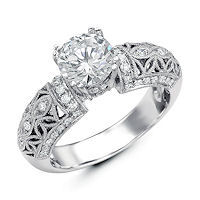 Item # E32562PP - Vintage Diamond Engagement Ring