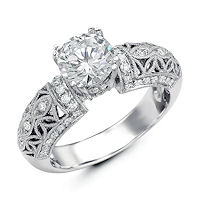 Item # E32562W - Vintage Diamond Engagement Ring