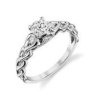 Item # E32592PP - Platinum Sculptural Diamond Engagement Ring