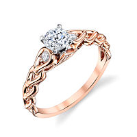 Item # E32592R - Rose Gold Sculptural Diamond Engagement Ring