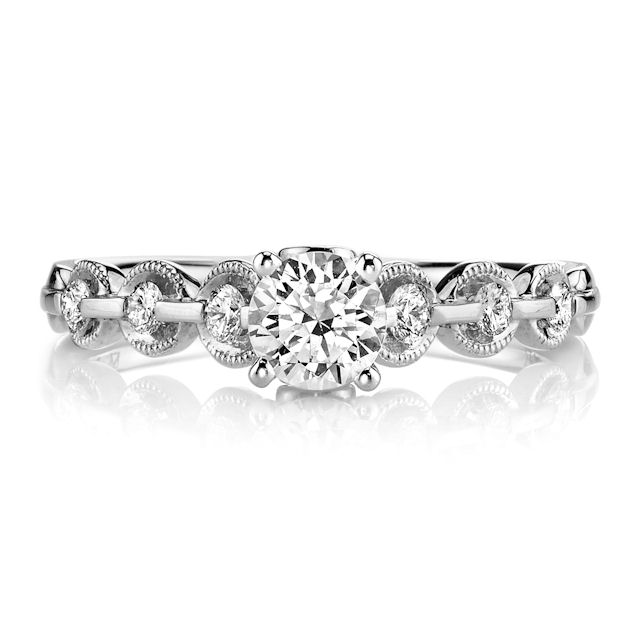 Item # E32596WE - Petite Diamond Engagement Ring View-2
