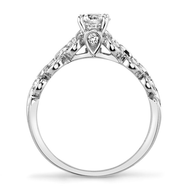 Item # E32596WE - Petite Diamond Engagement Ring View-3