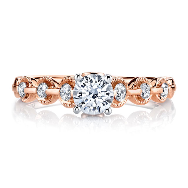 Item # E32596R - Rose Gold Diamond Engagement Ring View-2