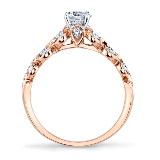 Item # E32596R - Rose Gold Diamond Engagement Ring View-3