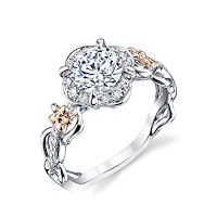 Item # E32741 - Floral Diamond Halo Engagement Ring