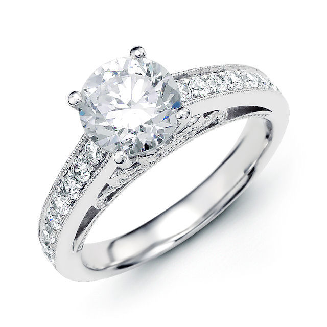 Classical Vintage Diamond Engagement Ring