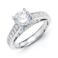 Item # E32789W - Classical Vintage Diamond Engagement Ring