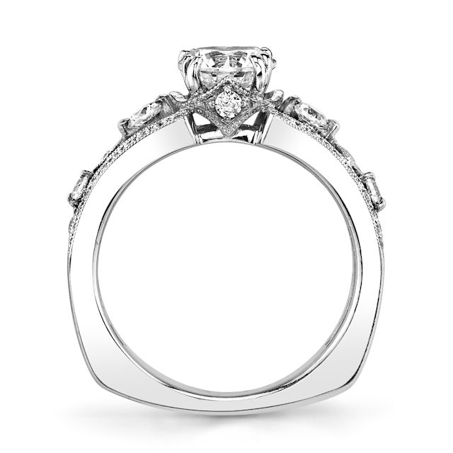 White Gold MilgrainEngagement Ring