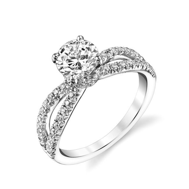 Item # E32886WE - White Gold Diamond Engagement Ring View-1