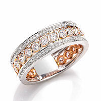 Item # E33063E - Rose & White Gold Diamond Fashion Ring