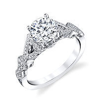 Item # E33231PP - Platinum Vintage Engagement Ring