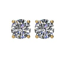 Item # E70251E - 14K Gold Diamond Stud Earrings