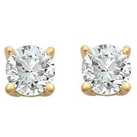 Item # E70331 - 14K Diamond Stud earrings