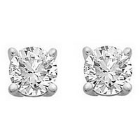 Item # E70401W - 14K Diamond Stud earrings