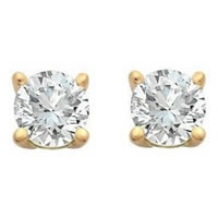 Item # E70401 - 14K Diamond Stud earrings