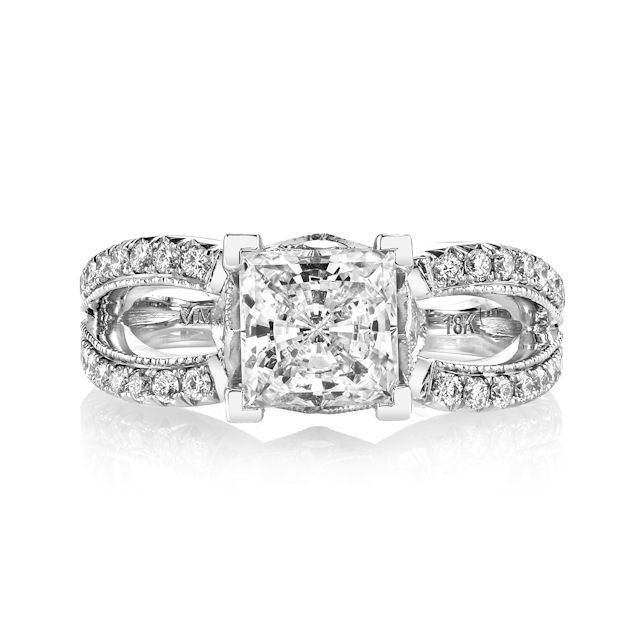 Item # E7044WE - White Gold Diamond Engagement Ring View-2