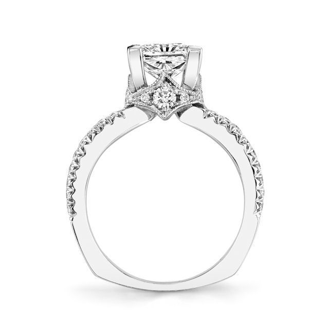 Item # E7044WE - White Gold Diamond Engagement Ring View-3