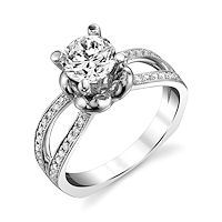 Item # E7045WE - White Gold Diamond Engagement Ring