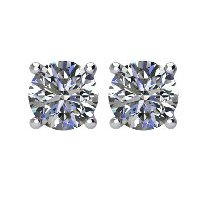 Item # E70751W - Diamond Stud Earrings