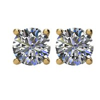 Item # E70751 - 14K Yellow Gold Diamond Stud Earrings